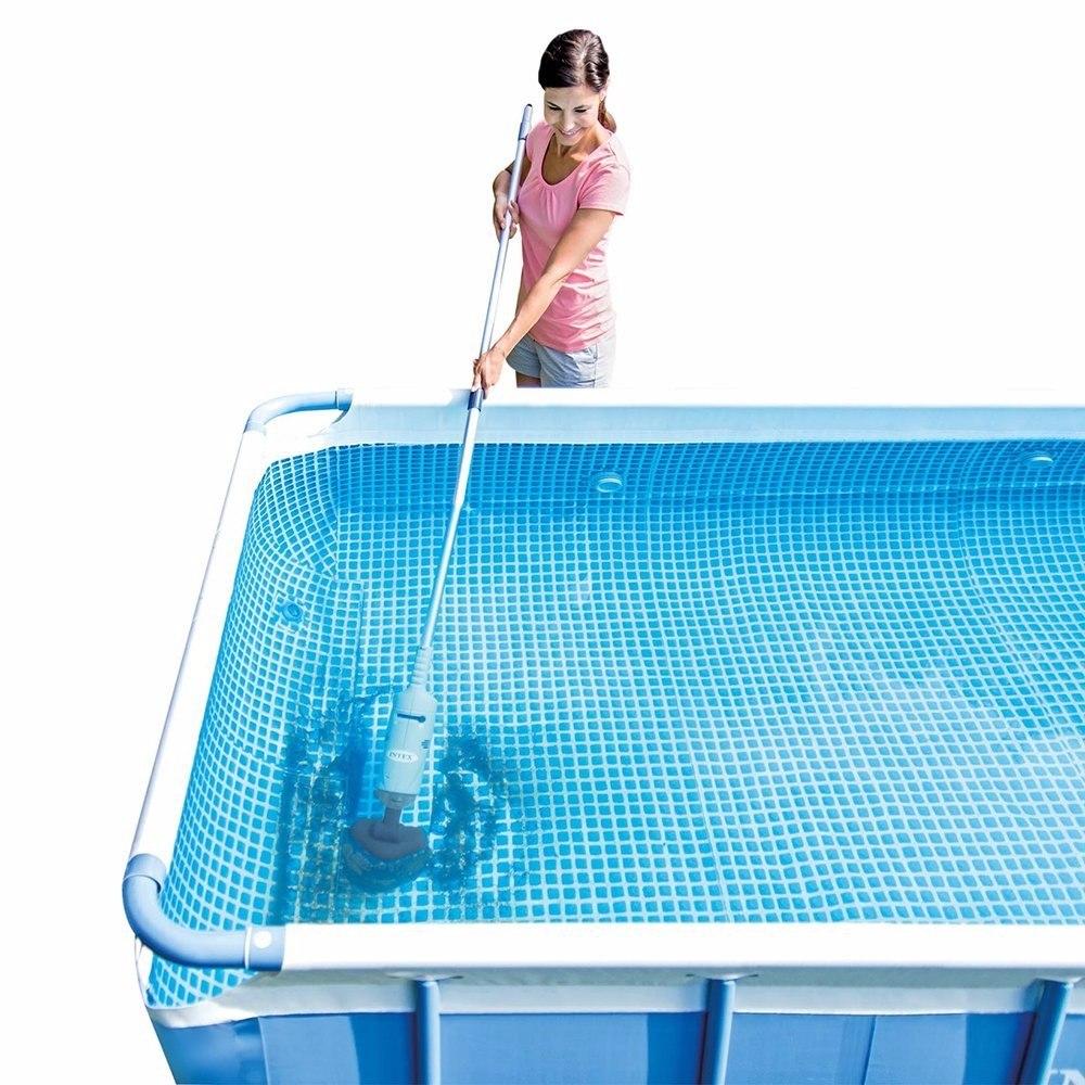 Aspiradora de fondo de alberca intex con bateria - Aspiradora para piscina ...