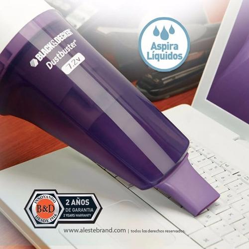 aspiradora de mano black + decker chv7202 portatil liquido