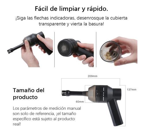 aspiradora de mano para auto mini inalámbrica recargable usb