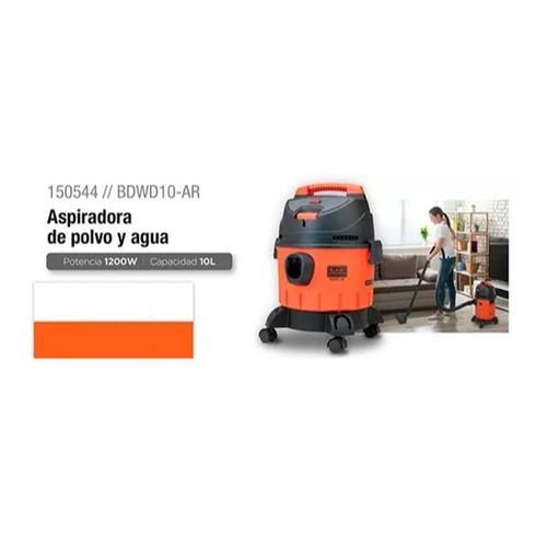 aspiradora de polvo y agua 10l 1200w b&d bdwd10-ar pintumm