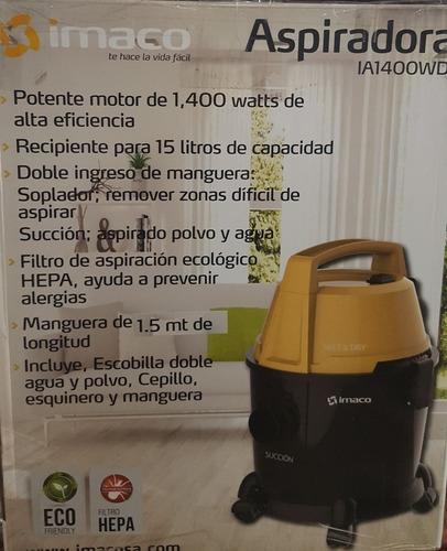 aspiradora domestica seco y mojado 1400w imaco mod. ia1400wd