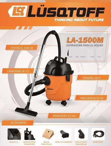 aspiradora hogar 15lts 1000w lq la-1500m pintumm