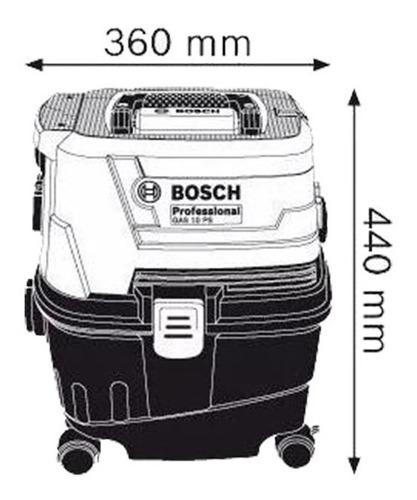 aspiradora humedo liquido seco bosch gas 15 ps profesional