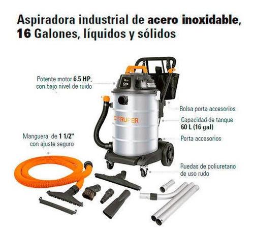 aspiradora industrial de 60lts (16 galones)