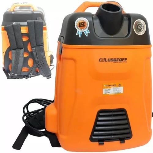 aspiradora industrial polvo liquido mochila lusqtoff 1600w