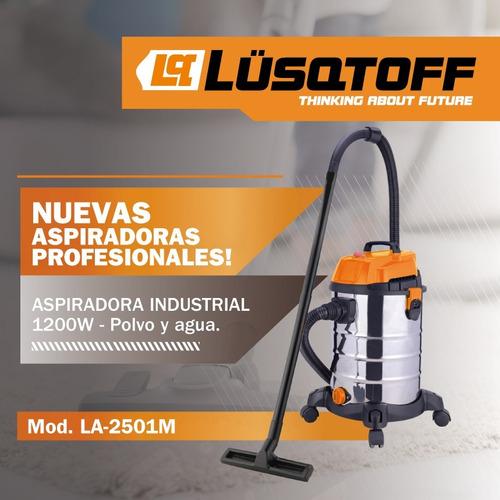 aspiradora industriallusqtoff 1200w polvo agua lavaderos