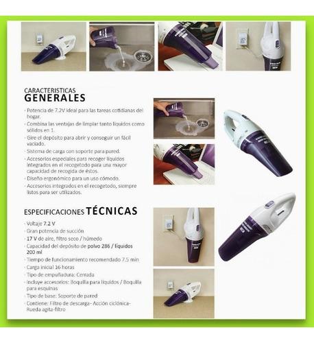 aspiradora mano inalambrica black & decker 7202 polvo y agua