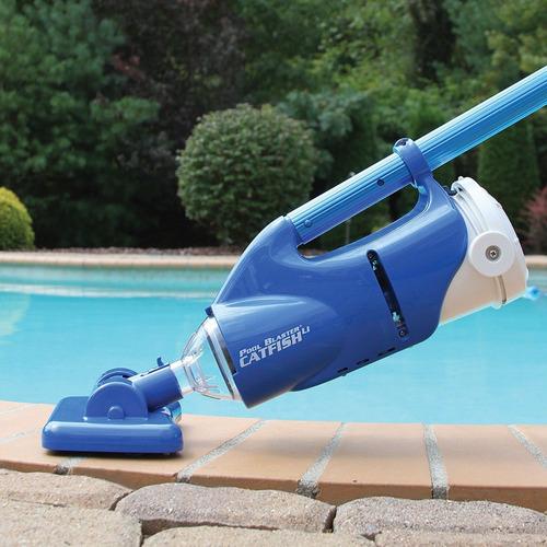 aspiradora para piscinas y spa + mango ajustable - importada