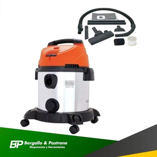 aspiradora polvo/agua black and decker tanque metalico 1600w