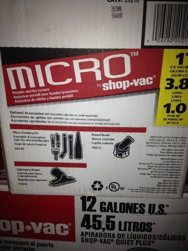 aspiradora shop vac 1hp 1galon micro,original somos tienda -