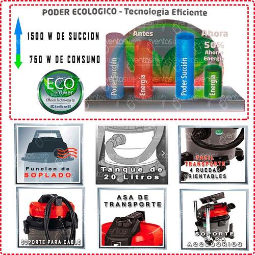aspiradora sin bolsa 20 lt einhell ideal auto hogar premium