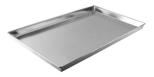 assadeira para pao doce 60x40x2cm alumínio (reta) -5 unid.