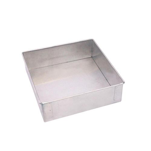 assadeira quadrada de alumínio grande