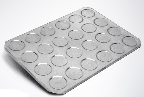 assadeiras para  macaron  24 cavidades alumínio  2 unidades