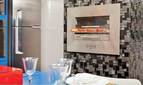 assador churrasqueira elétrica embutir+ grades de ventilação