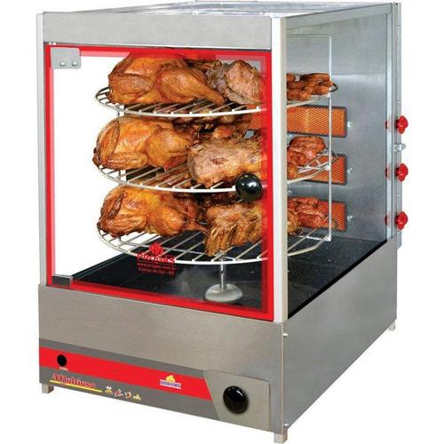 assador de frango industrial gás giratório progás prp-124g
