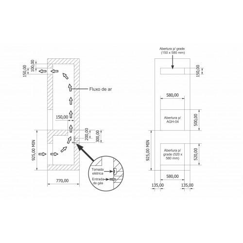 assador elétrico de embutir 4 espetos_vitreo smart