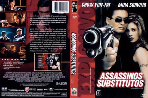 assassinos substitutos - dvd original novo