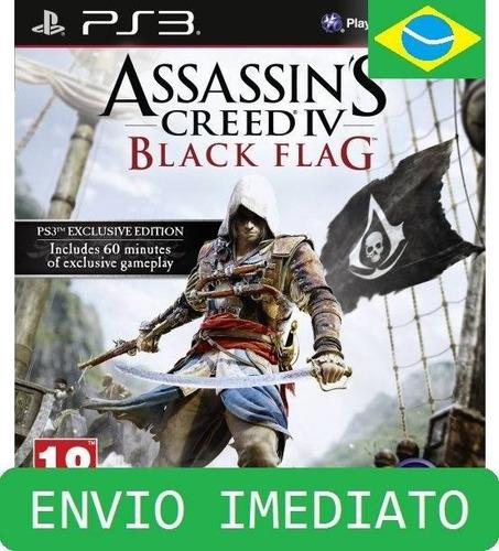 assassins creed 4 black flag ps3 psn mídia digital ps3 agora