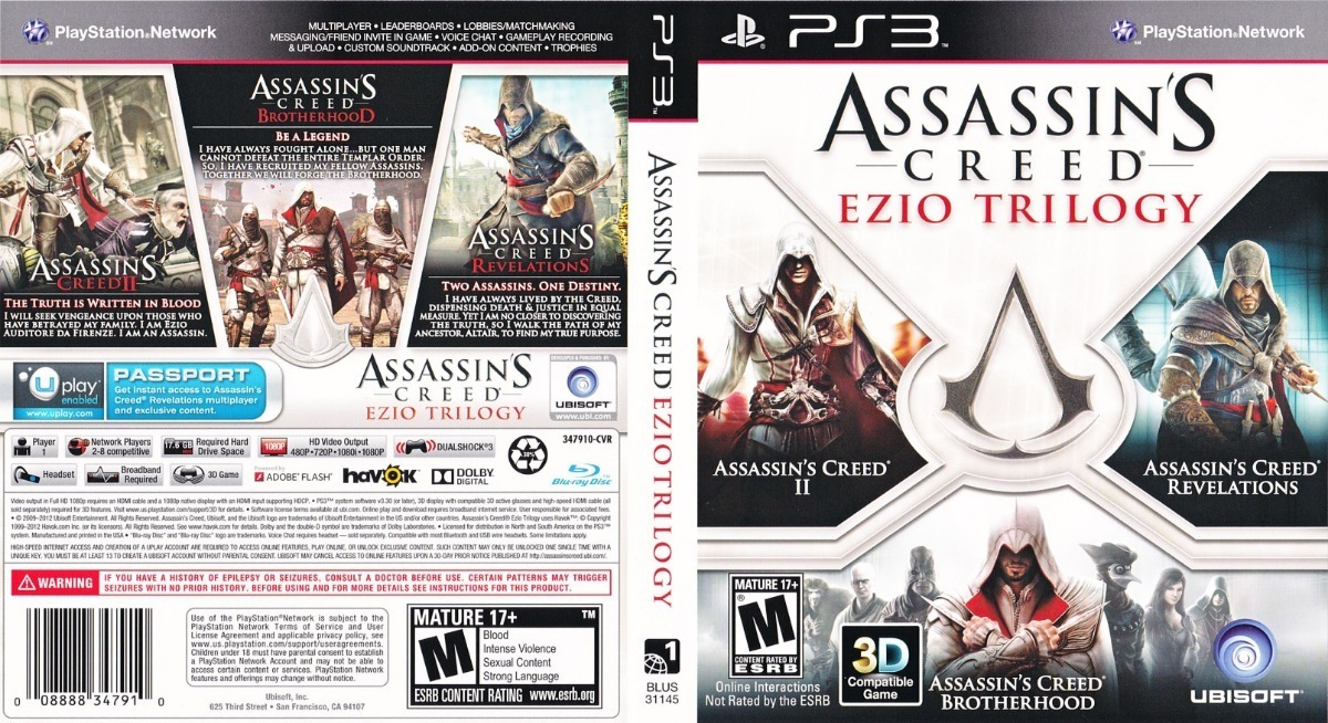 Assassin S Creed Ezio Trilogy Ps3 Espanol Fisico 500 00 En