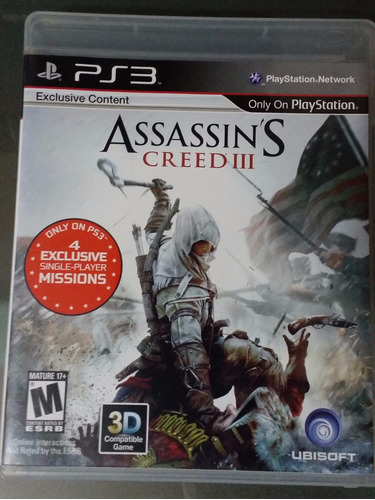 assassin´s creed iii para ps3