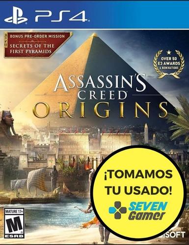 assassins creed origins ps4 fisico sellado nuevo sevengamer