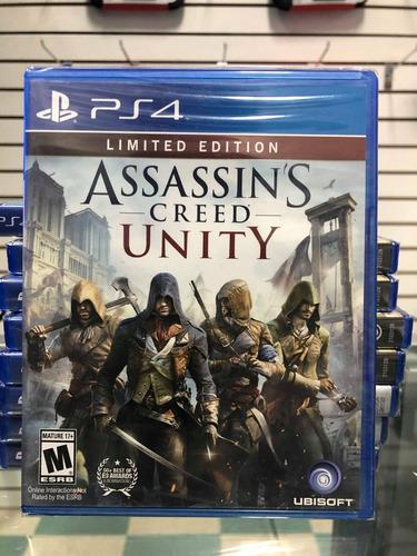 assassins creed unity limitada ps4. nuevo sellado, envíos.