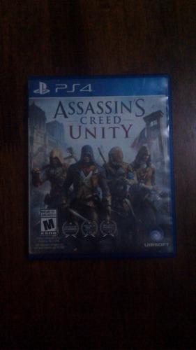 assassins creed unity ps4, semi nuevo