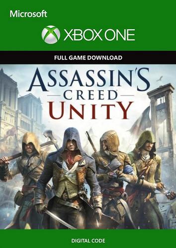 assassins creed unity xbox one codigo digital