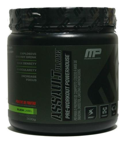 assault black mp musclepharm pré-treino 30 doses 300g
