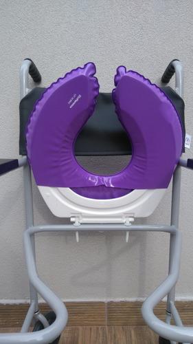 assento almofadado estofado para cadeira de banho - biofl