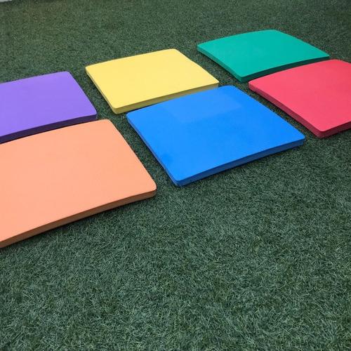 assento color em eva quadrado brinquedoteca festinhas lazer