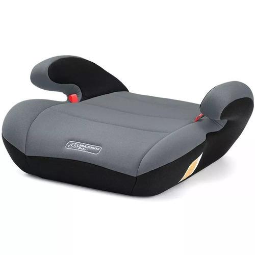 assento elevação infantil carro multikids baby 22-36kg cinza