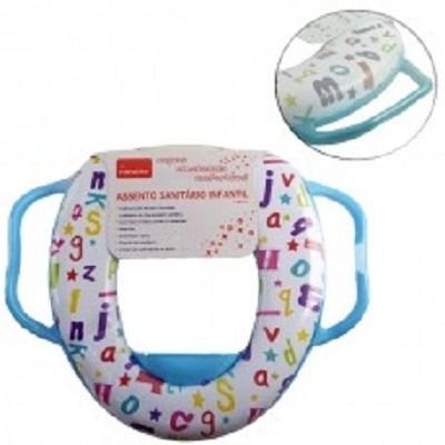 assento infantil com alças redutor para vaso sanitario adapt