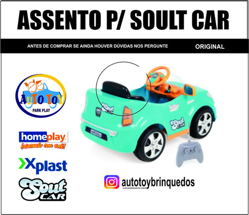 assento para soult car - x-plast - homeplay