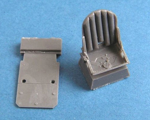 assento + placa blindagem resina spitfire 1/48 pavla models