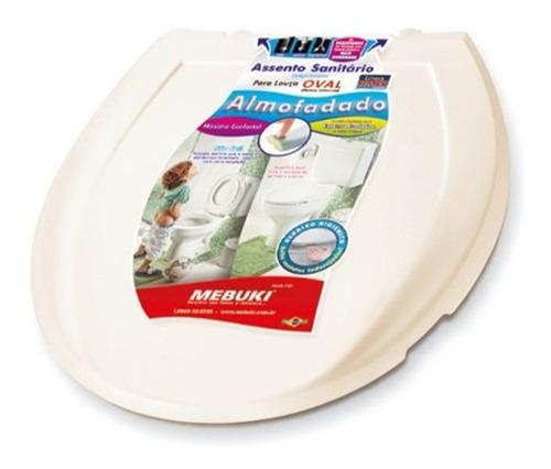 assento sanitário almofadado oval mebuki varias cores