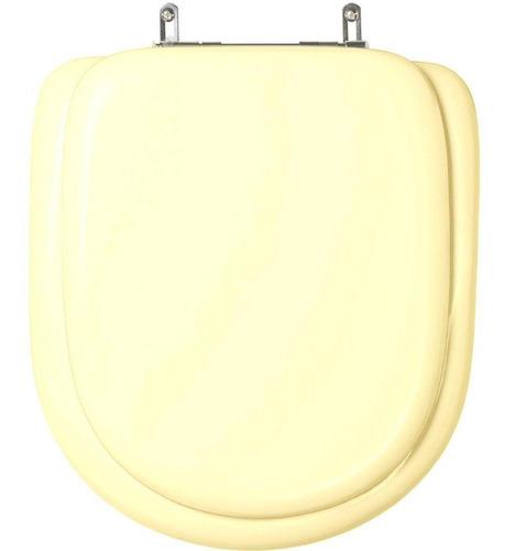 assento sanitário almofadado san remo marfim p/ louça hervy