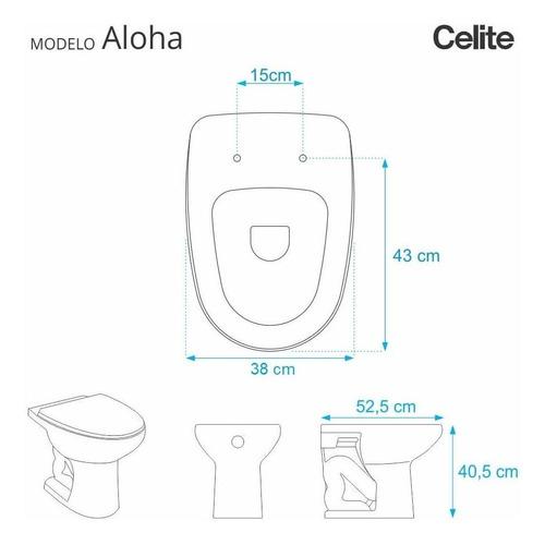 assento sanitário aloha branco p/ louça celite