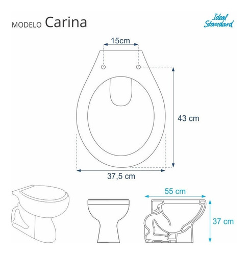 assento sanitário carina branco neve para louça ideal std
