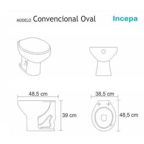 assento sanitário convencional  biscuit para louça incepa