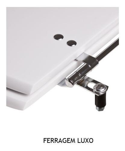 assento sanitário convencional decorado borbo branco
