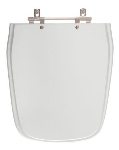 assento sanitário imperium cinza prata para louça celite