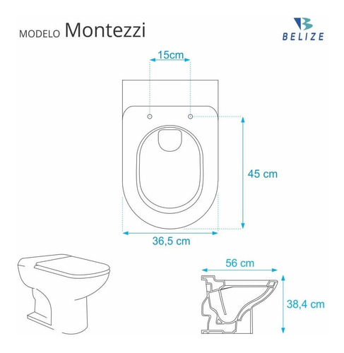 assento sanitário montezzi bege claro p/ louça belize