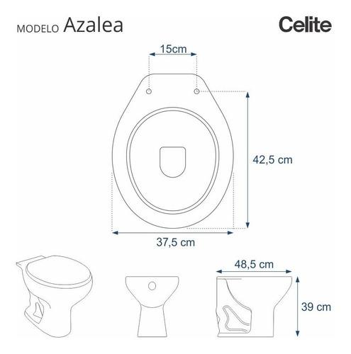 assento sanitário poliéster azaléa branco para louça celite