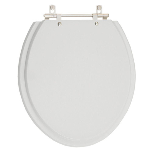 assento sanitário poliéster azaléa cinza prata para louça celite