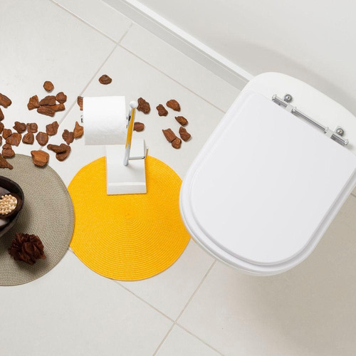 assento sanitário poliéster etna branco para louça icasa