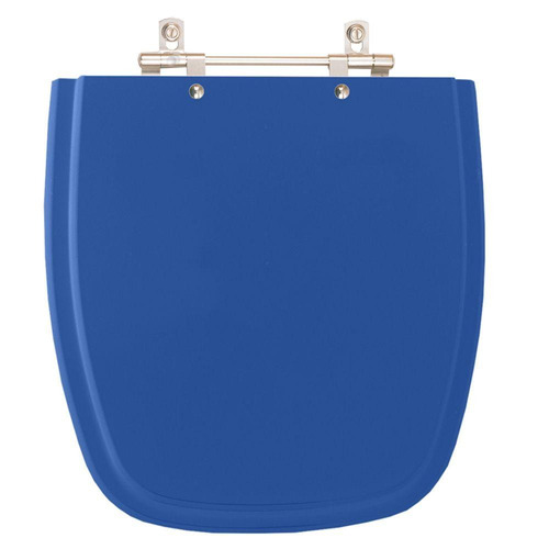 assento sanitário poliéster fit azul real para louça celite