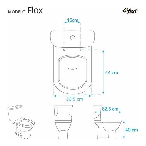 assento sanitário poliéster flox branco para louça fiori