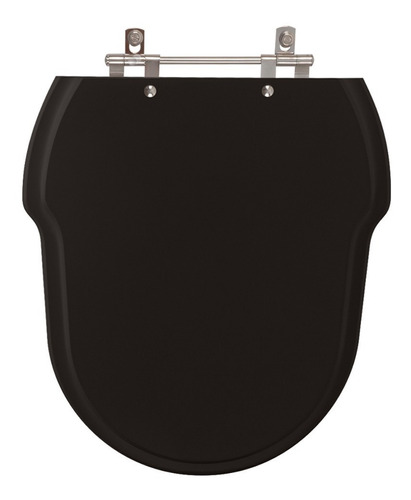 assento sanitário poliéster hampton preto para louça incepa